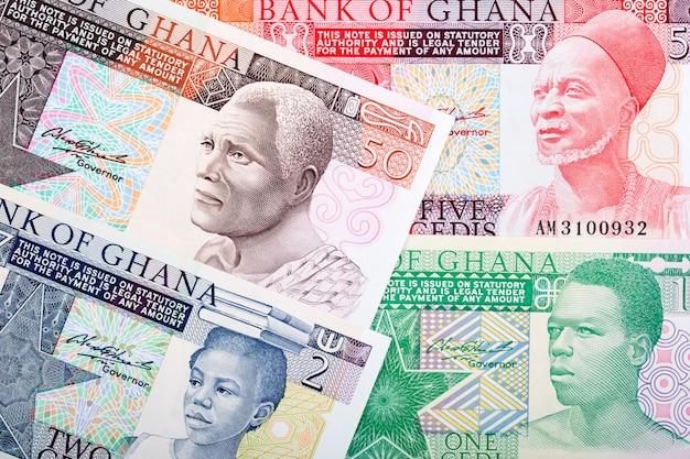 Altes geld aus ghana ein geschäftlicher hintergrund