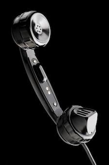 Altes glänzendes headset auf schwarz