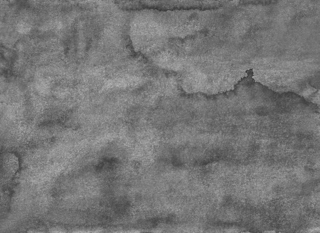 Altes graues strukturiertes hintergrundgemälde des aquarells. monochromes, ruhiges grunge-overlay. graue flecken auf papier.