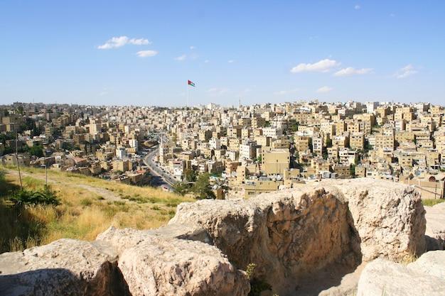 Altes jerash, ruinen der griechisch-römischen stadt von gera bei jordanien