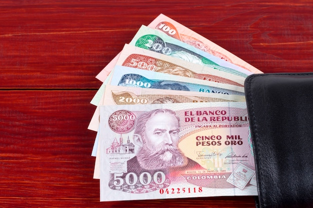 Altes kolumbianisches geld
