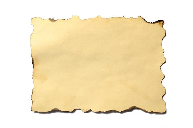 Altes leeres stück zerbröckelndes papiermanuskript oder pergament der antiken weinlese