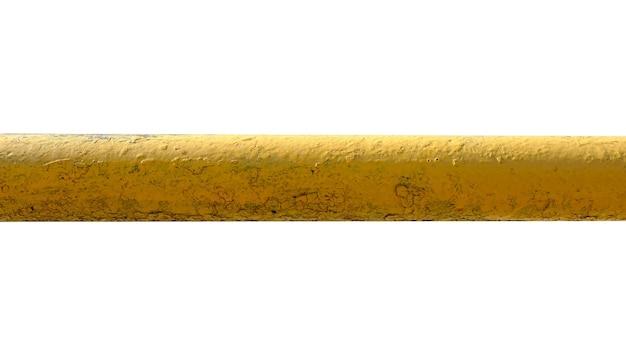 Altes metallrohr isoliert auf weißem hintergrund