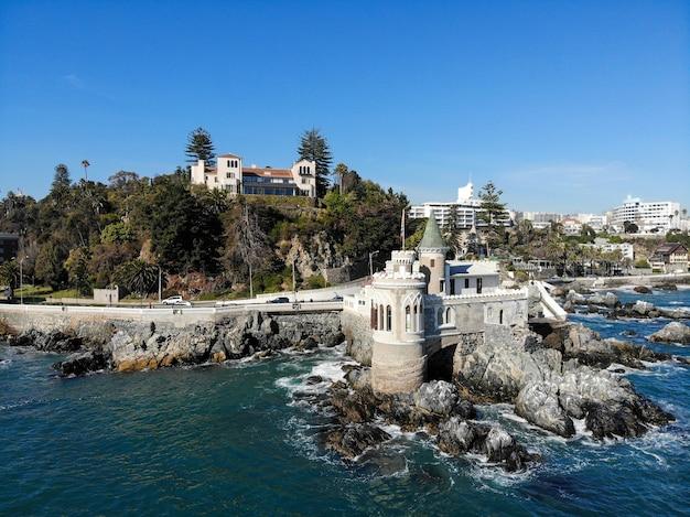 Altes öffentliches schloss und präsidentenpalast, vina del mar, chile