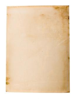 Altes papier auf weiß