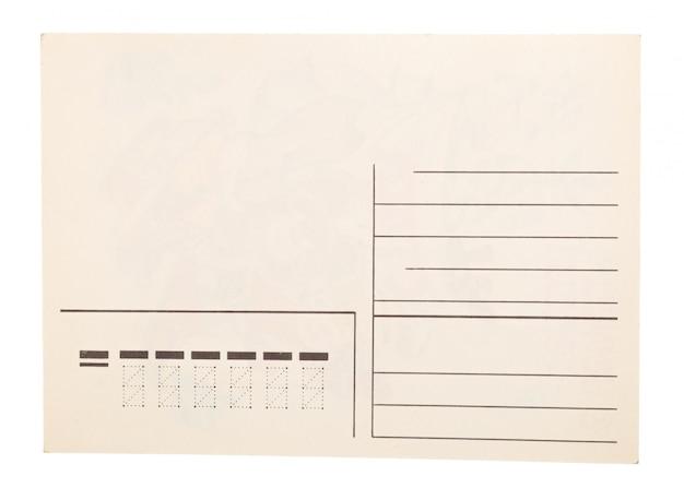 Altes papier auf weißem hintergrund.