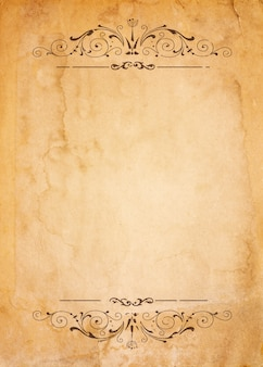 Altes papier mit gemusterten vintage-rahmen - leer für ihr design