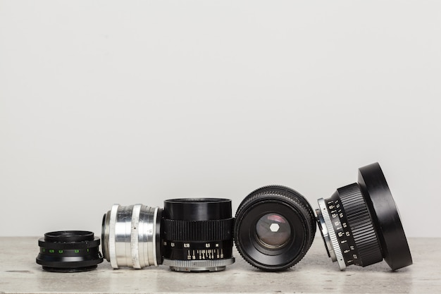 Altes retro- filmkameraobjektiv