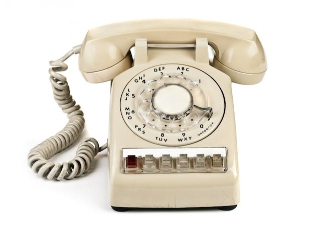 Altes retro-telefon, eine wählnummer
