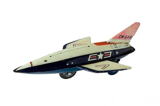 Altes rostiges spielzeugflugzeug - makro