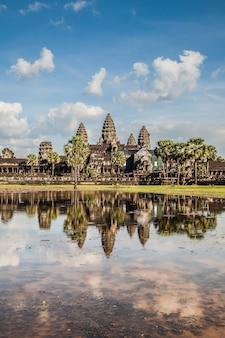 Altes schloss in kambodscha nannte angkor wat, angkor thom