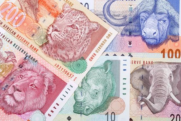 Altes südafrikanisches geld ein geschäftshintergrund