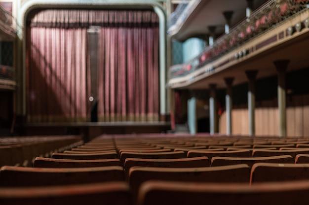 Altes theater von den sitzen aus gesehen