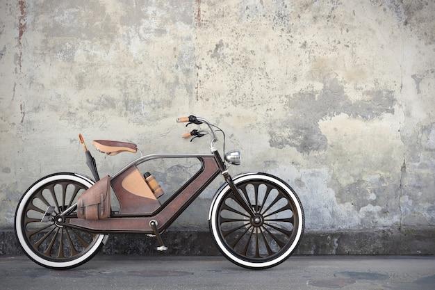 Altes vintage-fahrrad. steampunk-stil