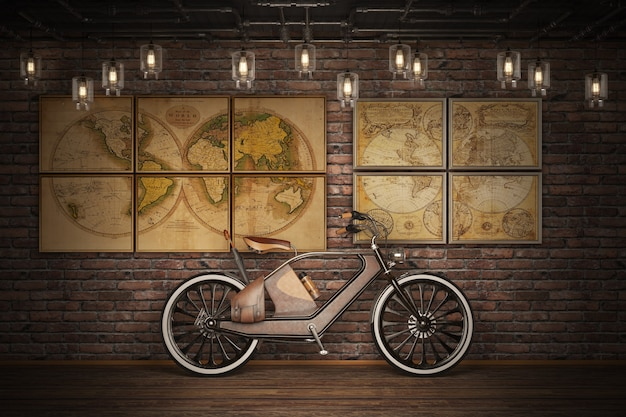 Altes vintage-fahrrad. steampunk-stil Premium Fotos