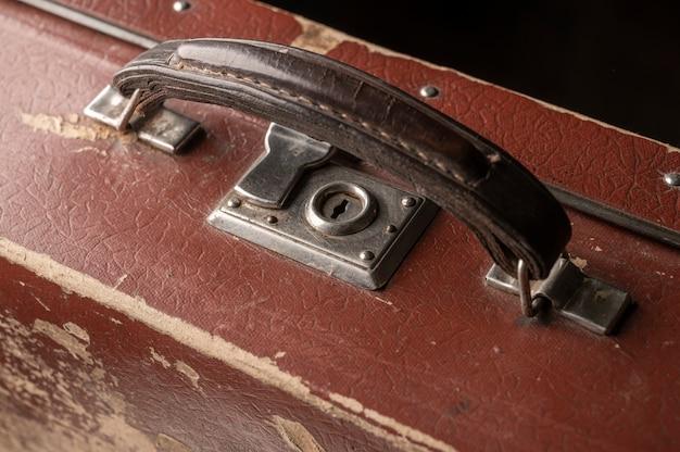 Altmodisches retro-detail des koffers