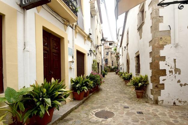 Altstadt von tossa de mar girona provinz katalonien spanien