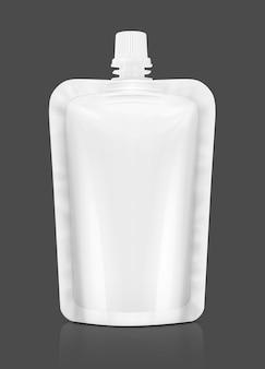 Alufolienbeutel für die gestaltung von lebensmitteln oder getränken