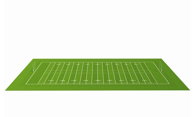 American football feld mit linie