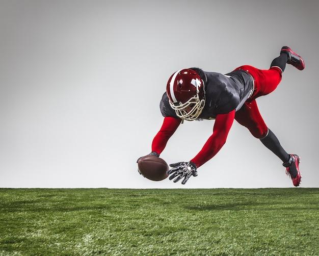 American football spieler in aktion