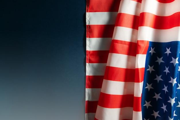 Amerika flagge mit exemplar