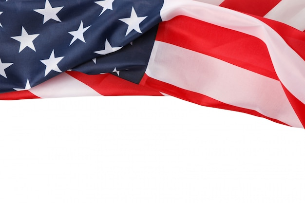 Amerikanische flagge als rahmen isoliert