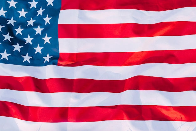 Amerikanische flagge am unabhängigkeitstag
