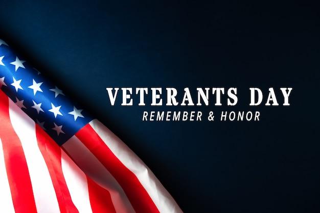Amerikanische flagge des veteranentags