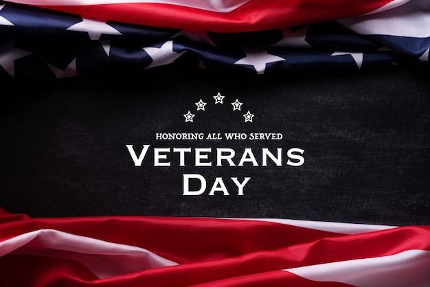 Amerikanische flagge für veteranentag