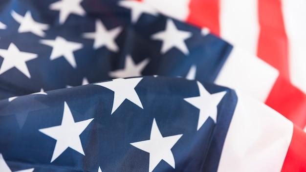 Amerikanische flagge gekräuselt