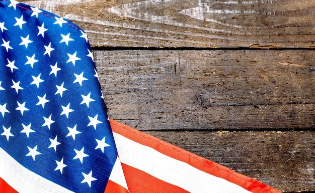 Amerikanische flagge, unabhängigkeit der usa, vereinigter hintergrund