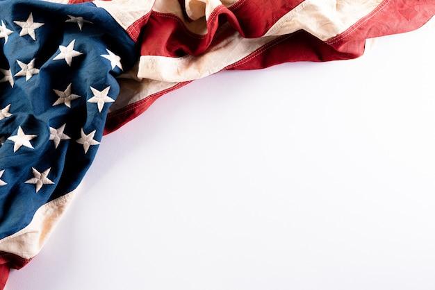 Amerikanische flaggen mit schöner textur