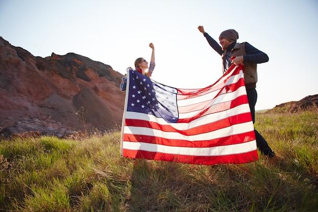 Amerikanische freiheit feiern