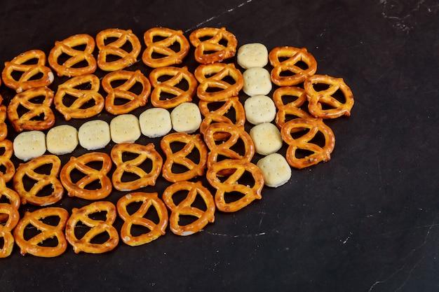Amerikanische superschüssel leckere snacks