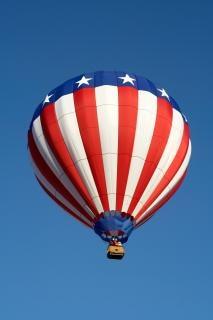 Amerikanischen heißluftballon