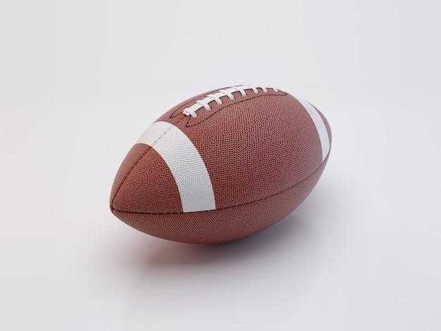 Amerikanischer fußball lokalisiert auf weißem hintergrund mit beschneidungspfad. super bowl.