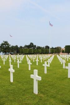 Amerikanischer militärfriedhof in colleville