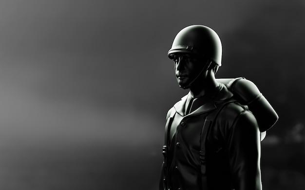Amerikanischer soldat des 2. weltkrieges.