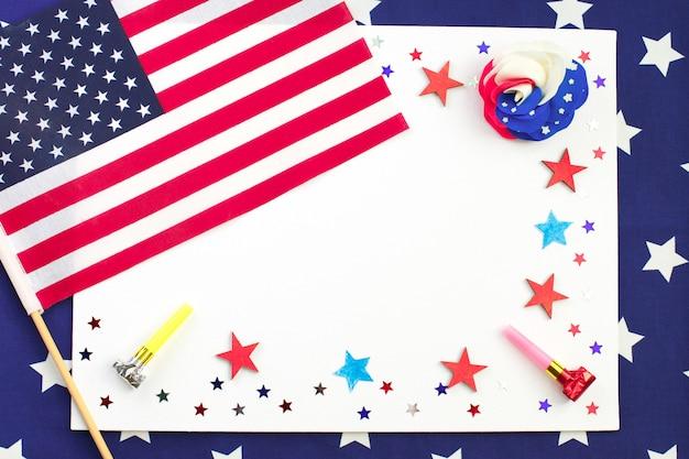 Amerikanischer unabhängigkeitstag, karte