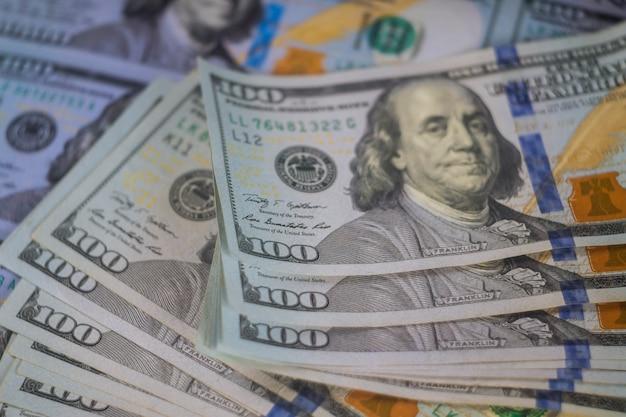 Amerikanisches geldlos dollar von hundert dollar