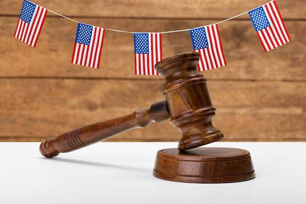 Amerikanisches gesetzgebungs- und gerechtigkeitskonzept