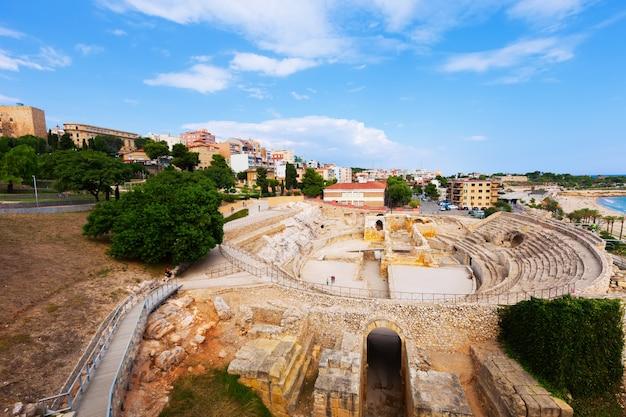 Amphitheater in tarragona. spanien