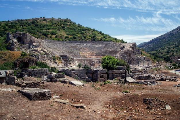 Amphitheater (kolosseum) in ephesus (efes) die türkei, asien