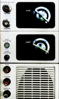 Analoges fernsehen panel photographie