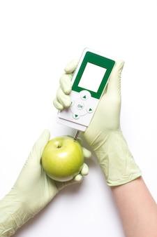 Analyse für nitrate und strahlung elektronisches gerät.