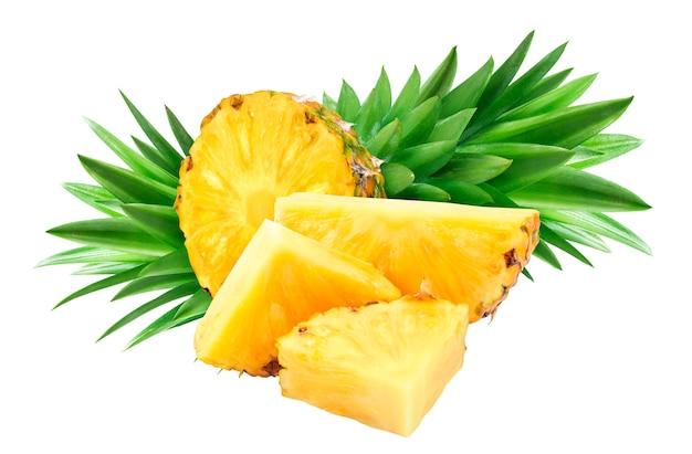 Ananas getrennt auf weißem hintergrund