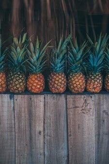 Ananas im strand mit farben in farben