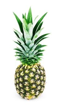 Ananas mit scheiben isoliert auf weiß