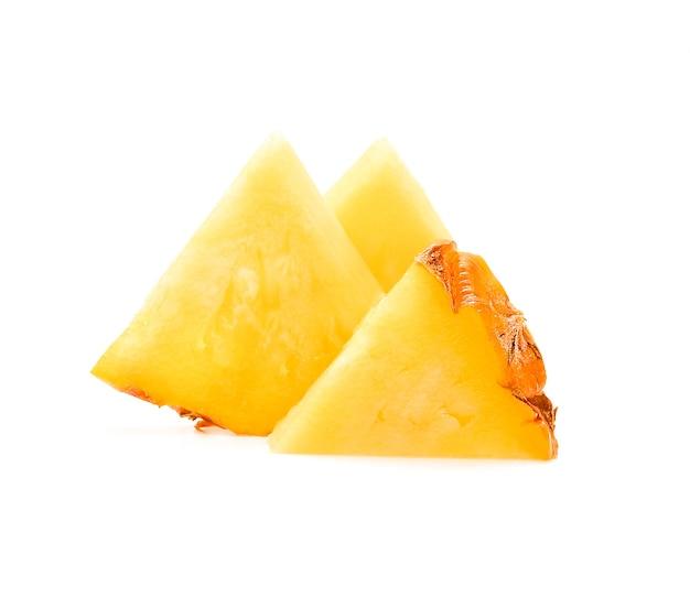 Ananasscheibe isoliert