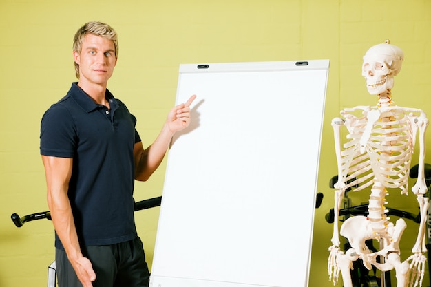 Anatomie in der turnhalle